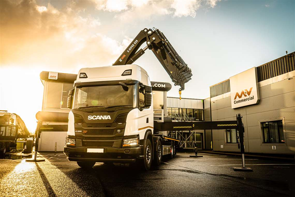 MV Commercial has ordered 100 Hiab cranes in the light, medium and heavy ranges